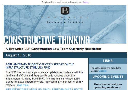 Brownlee email newsletter